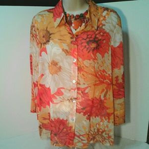 Alfred Dunner floral print blouse